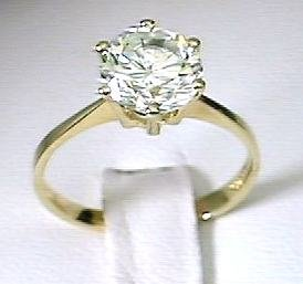 Brilliant Cubic Zirconia Cubic Zirconia Once Carat Solitaire Ring - Ring Size Options: 5 6 7 8 9
