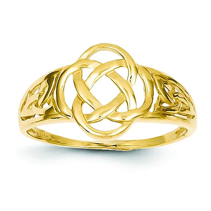 14K Gold Celtic Knot Ring Sz 6