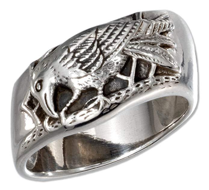 Sterling Silver Raven Ring