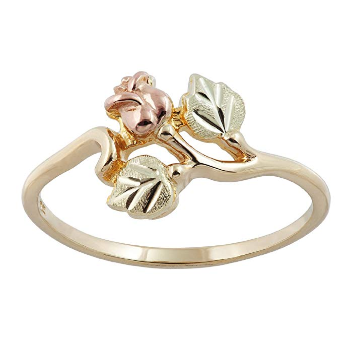 Beautiful! 10k Yellow-gold Black Hills Gold Women's Rose Ring