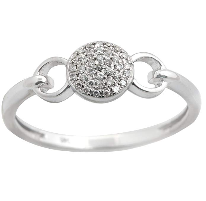 New Brand Round Brilliant Cut Natural Diamond Light Weight Fancy Cluster Ring